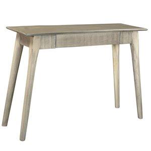 Table console !nspire rustique moderne, 1 tiroir, 14 po x 30 po, gris pâle