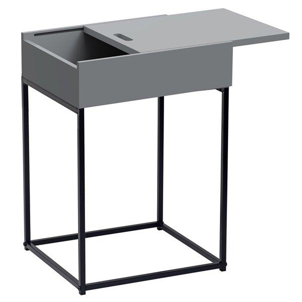 Table d'appoint rectangulaire !nspire de style moderne, gris