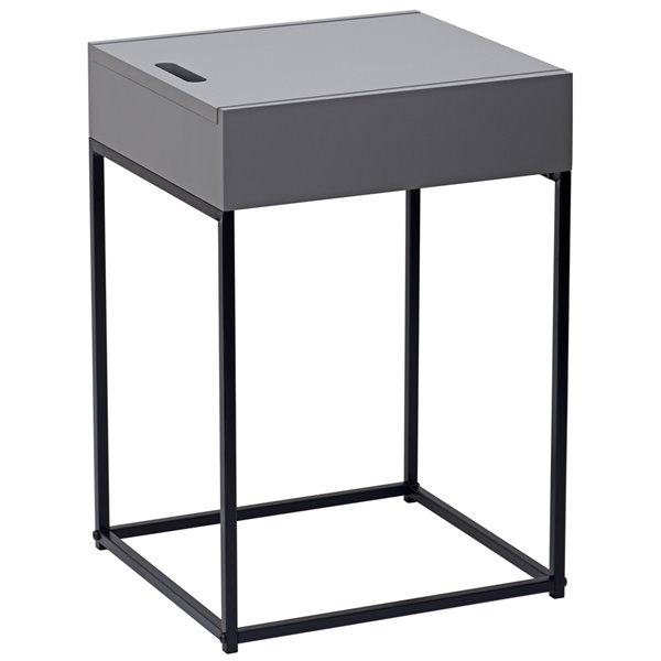 !nspire Modern Rectangular End Table - Grey Table Top