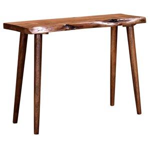 Table console !nspire de style mi-siècle, 13 po x 30 po, noyer
