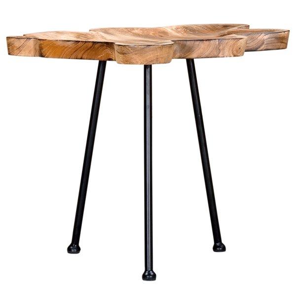 Table d'appoint !nspire de style moderne rustique, bois naturel de manguier