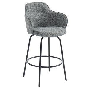 !nspire Mid-Century Upholstered Counter Stool - Grey - Set of 2