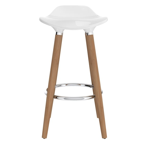 !nspire Mid-Century Upholstered Counter Stool - White - Set of 2