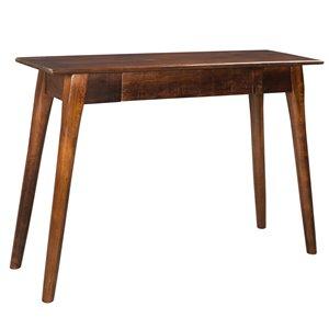 Table console !nspire rustique moderne, 1 tiroir, 14 po x 30 po, bois de manguier