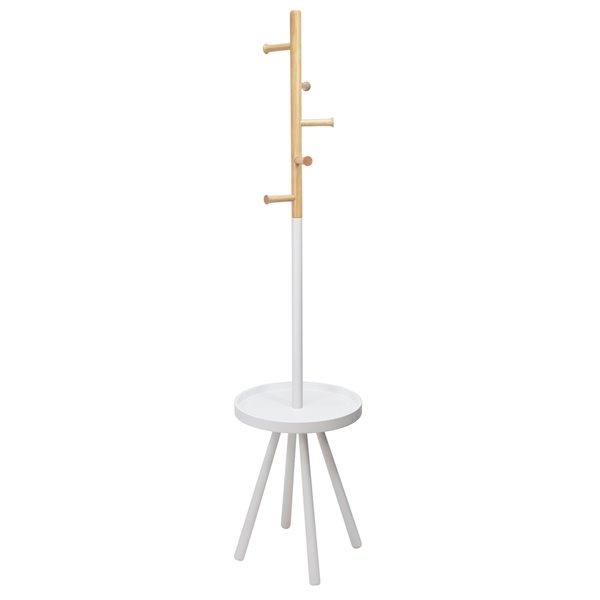 !nspire Modern Coat Stand - 5-Hook - 67-in - White