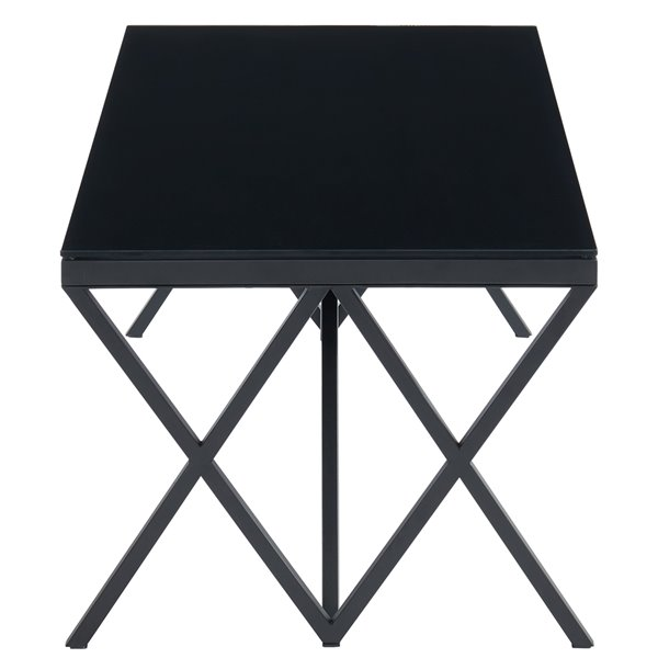 !nspire Modern Coffee Table - Black Frame Finish and Black Table Top Finish