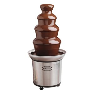 Nostalgia 4-Tier 2-Pound Stainless Steel Chocolate Fondue Fountain