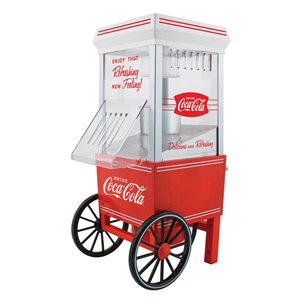 Nostalgia Coca-Cola 12-Cup Hot Air Popcorn Maker