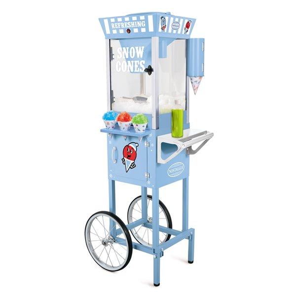 Nostalgia Snow Cone Cart - Blue - 54-in