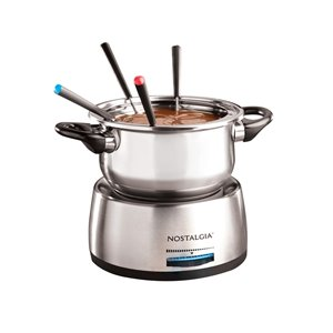 Nostalgia 6-Cup Stainless Steel Electric Fondue Pot