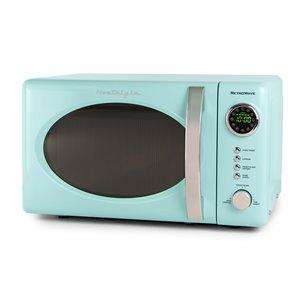 Nostalgia Retro 700-Watt Countertop Microwave Oven - Aqua - 0.7-cu ft