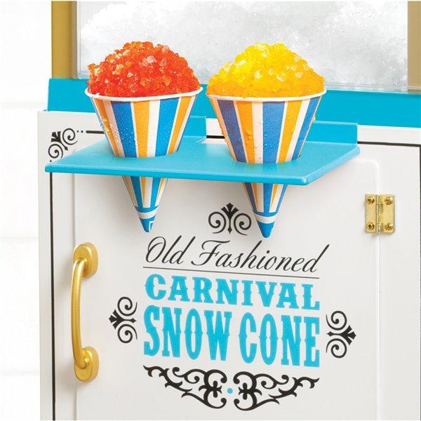 Nostalgia Snow Cone Cart - Blue - 48-in