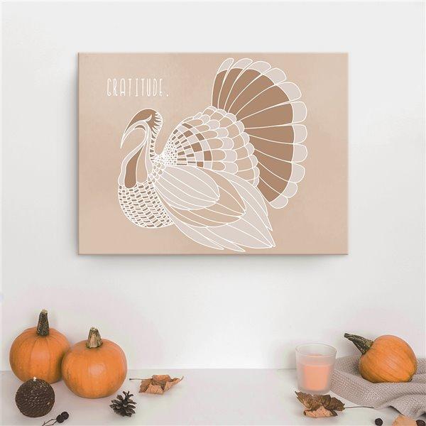Ready2HangArt 'Minimal Turkey II' Fall Havest Wall Art - 30-in