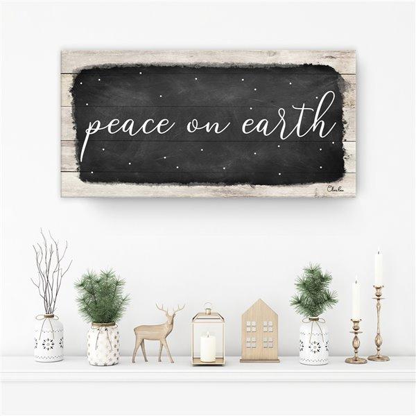 Ready2HangArt 'Peace on Earth I' décoration murale , 8 po x 16 po