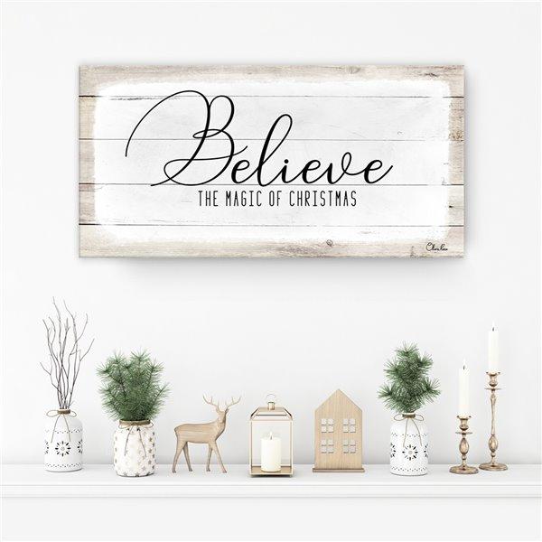 Ready2HangArt 'Believe II' Holiday Canvas Wall Art - 18-in x 36-in