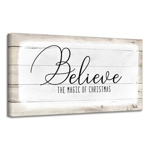 Ready2HangArt 'Believe II' Holiday Canvas Wall Art - 18-in x 36-in