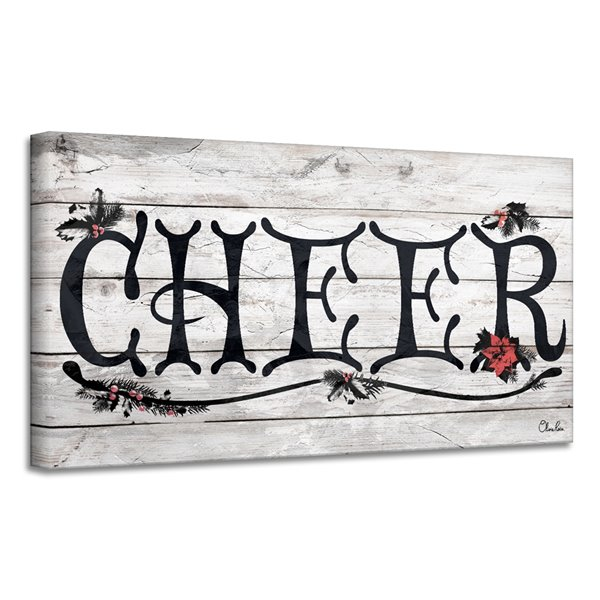 Ready2HangArt 'Cheer' Holiday Canvas Wall Art - 12-in x 24-in
