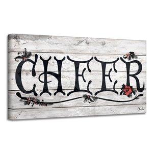 Décroation murale 'Cheer' de Ready2HangArt, 12 po x 24 po