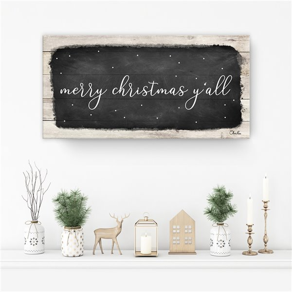 Ready2HangArt 'Merry Christmas Y'all' Canvas Wall Art - 18-in x 36-in