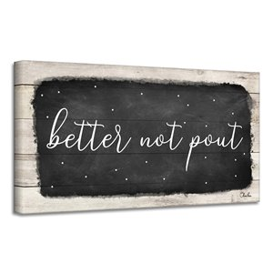 Ready2HangArt 'Better Not Pout' Canvas Wall Art - 12-in x 24-in