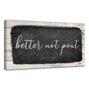 Ready2HangArt 'Better Not Pout' décoration murale , 12 po x 24 po