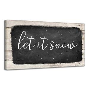 Ready2HangArt 'Let it Snow' Canvas Wall Art - 18-in x 36-in