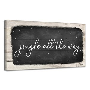 Ready2HangArt 'Jingle All the Way' Canvas Wall Art - 12-in x 24-in