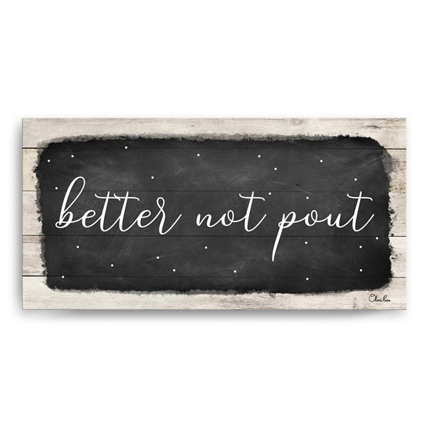 Ready2HangArt 'Better Not Pout' Canvas Wall Art - 18-in x 36-in