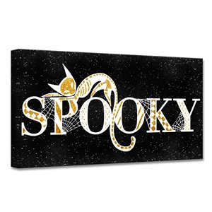 Ready2HangArt 'Spooky Glam' Halloween Wall Art - 24-in x 24-in