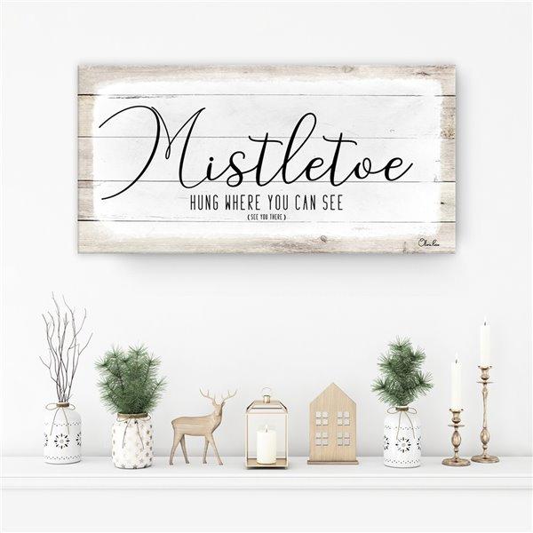 Ready2HangArt 'Mistletoe'  décoration murale , 8 po x 16 po