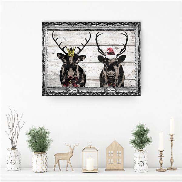Ready2HangArt 'Vixen & Comet' Holiday Canvas Wall Art - 20-in x 30-in