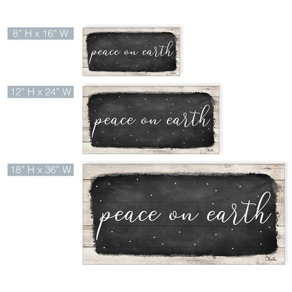 Ready2HangArt 'Peace on Earth I' décoration murale , 18 po x 36 po