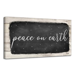 Ready2HangArt 'Peace on Earth I' Canvas Wall Art - 18-in x 36-in