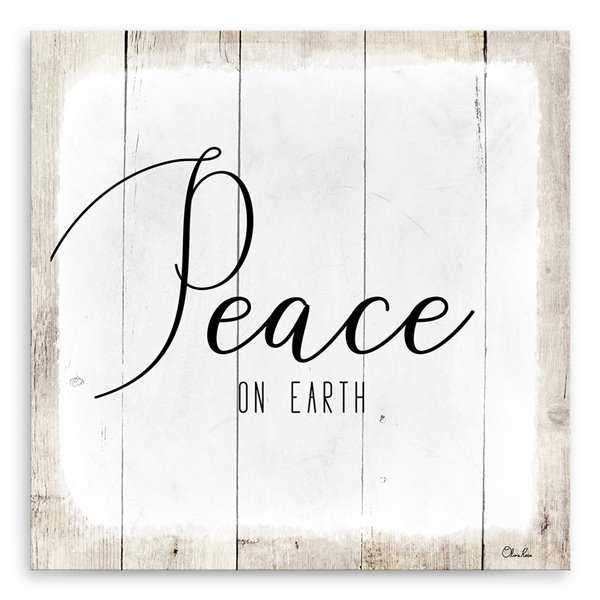 Ready2HangArt 'Peace on Earth II' Holiday Canvas Wall Art - 20-in x 20-in