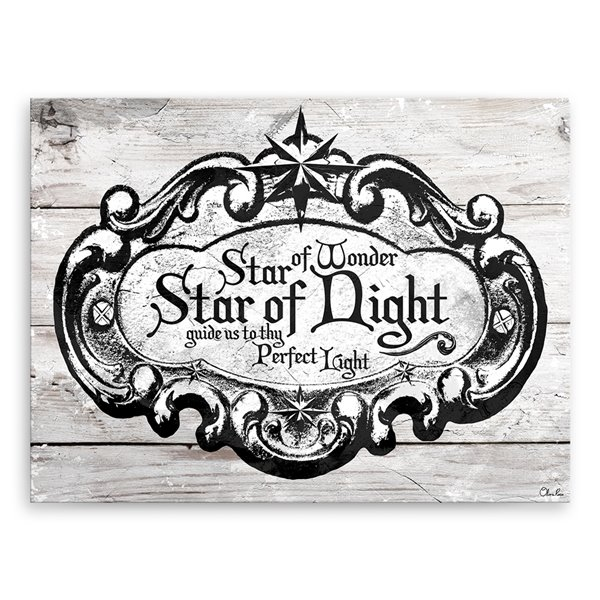 Ready2HangArt 'Star of Wonder' Holiday Canvas Wall Art - 12-in x 16-in