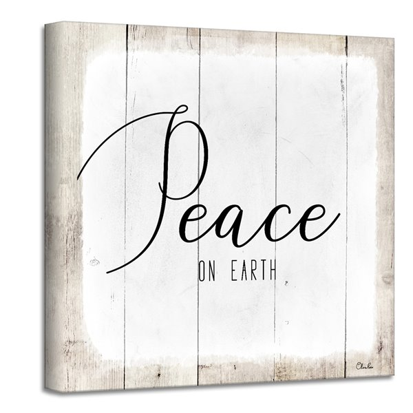 Ready2HangArt 'Peace on Earth II' Holiday Canvas Wall Art - 12-in x 12-in
