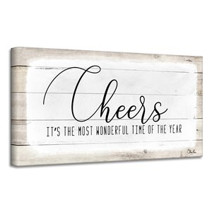 Ready2HangArt 'Cheers' Holiday Canvas Wall Art - 8-in x 16-in