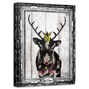 Ready2HangArt 'His Vixen' Holiday Canvas Wall Art - 16-in x 12-in