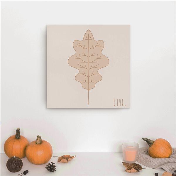 Ready2HangArt 'Minimal Leaf III' décoration murale , 12 po