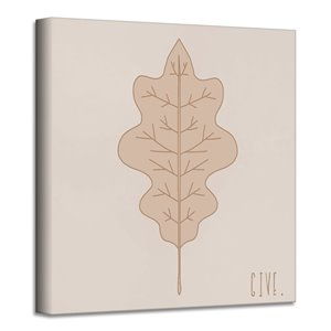 Ready2HangArt 'Minimal Leaf III' Fall Harvest Wall Art - 12-in