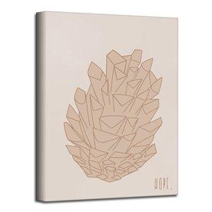 Ready2HangArt 'Minimal Pinecone I' Fall Harvest Wall Art - 16-in