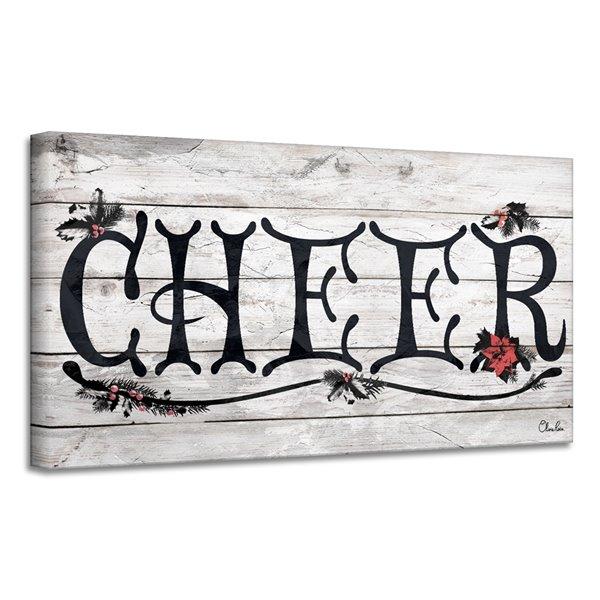 Décroation murale 'Cheer' de Ready2HangArt, 8 po x 16 po