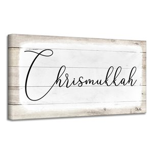 Ready2HangArt 'Chrismukkah' Hanukkah Canvas Wall Art