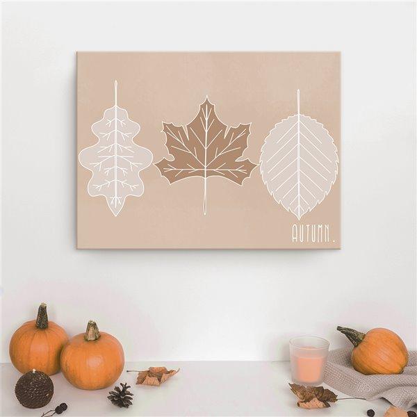 Ready2HangArt 'Minimal Leaves' Fall Harvest Wall Art - 20-in