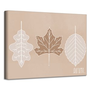 Ready2HangArt 'Minimal Leaves' Fall Harvest Wall Art - 20-in