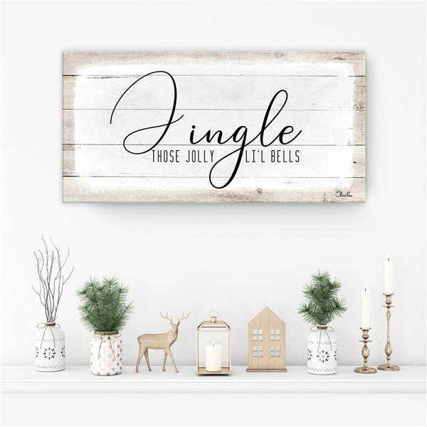 Ready2HangArt 'Jingle' Holiday Canvas Wall Art - 8-in x 16-in