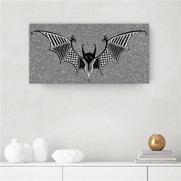 Ready2HangArt 'Glamoween Bat II' Halloween Wall Art - 24-in x 24-in