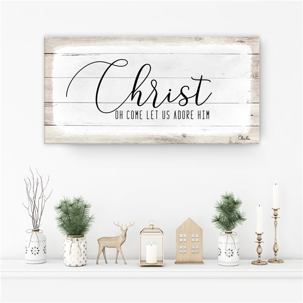 Ready2HangArt 'Christ' Holiday Canvas Wall Art - 8-in x 16-in