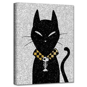 Ready2HangArt 'Glamoween Kitty I' Halloween Wall Art - 12-in x 12-in