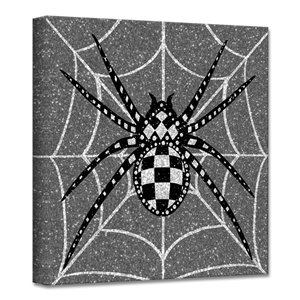 Ready2HangArt 'Glamoween Spider II' décoration murale, 12 po x 12 po